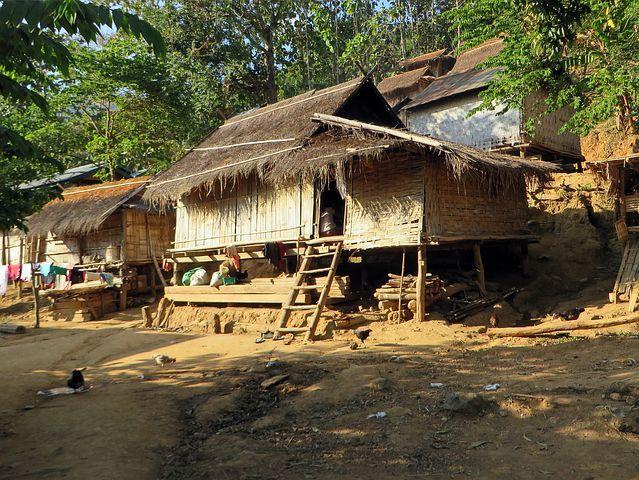 Laos Village Houses Kamu Ethnicity Ho Landscape Photography Nature Village Photography Rural Landscape