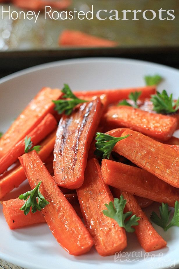 Honey Roasted Carrots; perfect paleo snack or side and I bet the girls would like them too