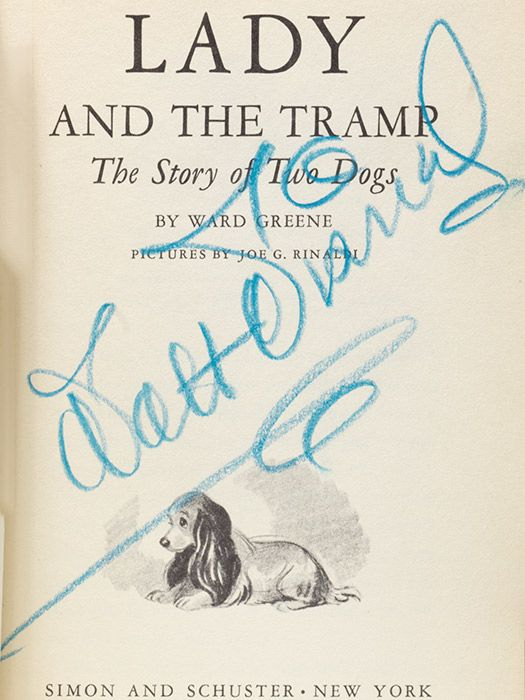 Lady and the tramp first edition boldly signed by walt for A t tramp salon