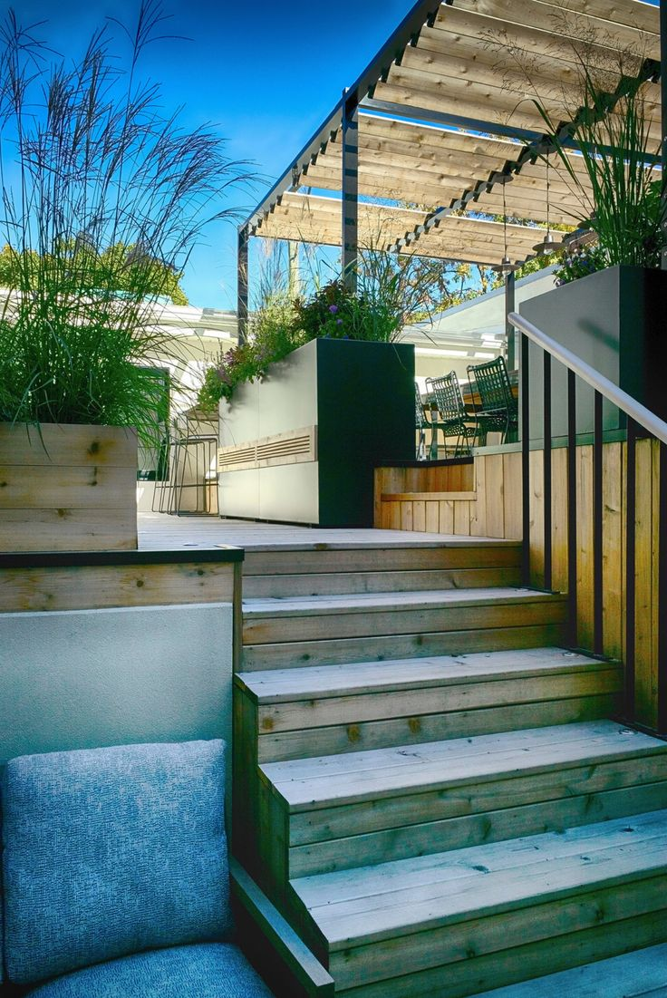 The Biggest Challenge Facing The Designer In Terrasse VF Was To Reconcile  The Existing Buildings,