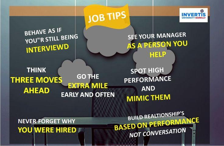 JOB TIPS #JOININVERTIS #FOLLOW
