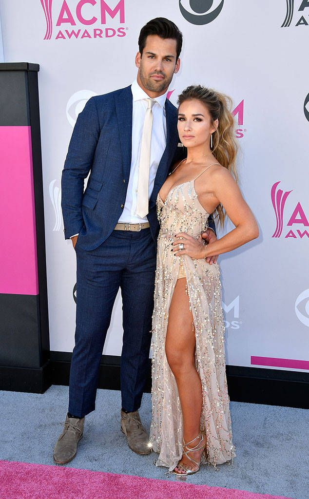 Eric Decker & Jessie James Decker from ACM Awards 2017: Red Carpet Arrivals  The country music darling and her NFL beau have never looked better in their ACM glitz and glam.