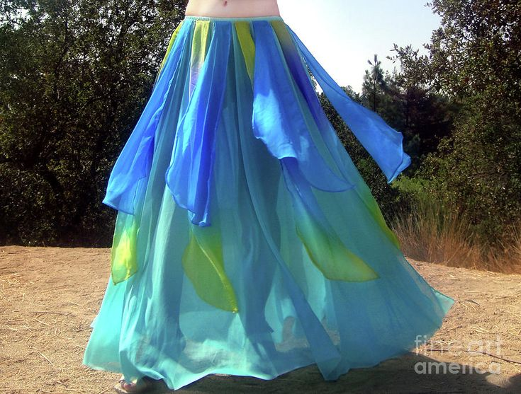 Ameynra Belly Dance Fashion Light-blue Skirt 036 Photograph by Sofia Metal Queen