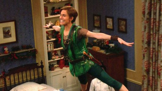 """""""I'm Flying"""" - Peter Pan (Allison Williams) teaches Wendy (Taylor Louderman) and the Darling boys (Jake Lucas, John Allyn) how to fly in this classic song from NBC's Peter Pan LIve!"""