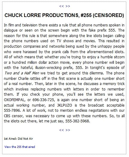 chuck lorre vanity cards #255 | Chuck Lorre Vanity Cards - This is the original version before the censors...