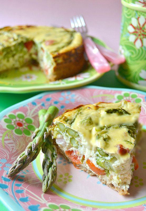 Dolci a go go: Cheesecake salata con pomodorini, asparagi e pancetta