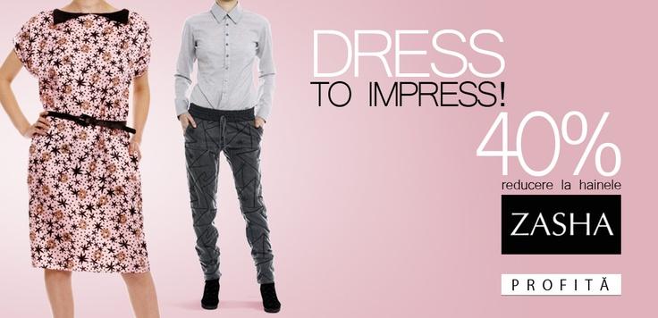 Colecţia Zasha aparţine unui foarte talentat designer român, Adelina Ivan, care face furori pe la târgurile internaţionale de modă cu piesele ei şi tare ne mai bucurăm!    Vestea foarte-foarte bună: au început reducerile mari, răscoliţi pe http://www.tinar.ro/colectii/zasha.html?per_pagina=100 şi profitaţi de ele, sigur veţi găsi ceva memorabil Zasha pentru garderoba voastră!