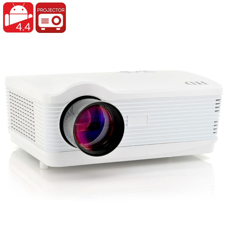 Image of LED Android 4.4 Projector 'DroidBeam II' - 250 Inch HD Projection, 3000 Lumens, 1.5GHz Quad Core CPU, Wi-Fi, 8GB Memory