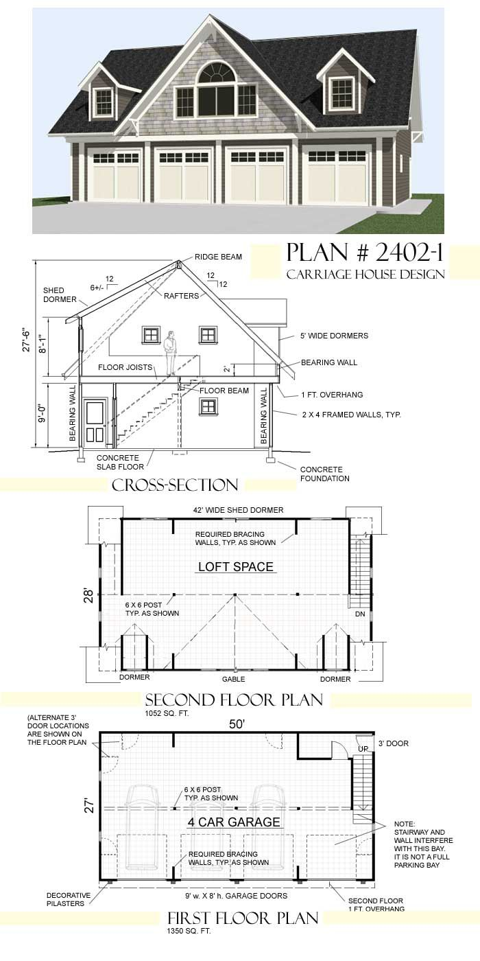 Possible garage temporary housing while our dream home for Garage plans with loft