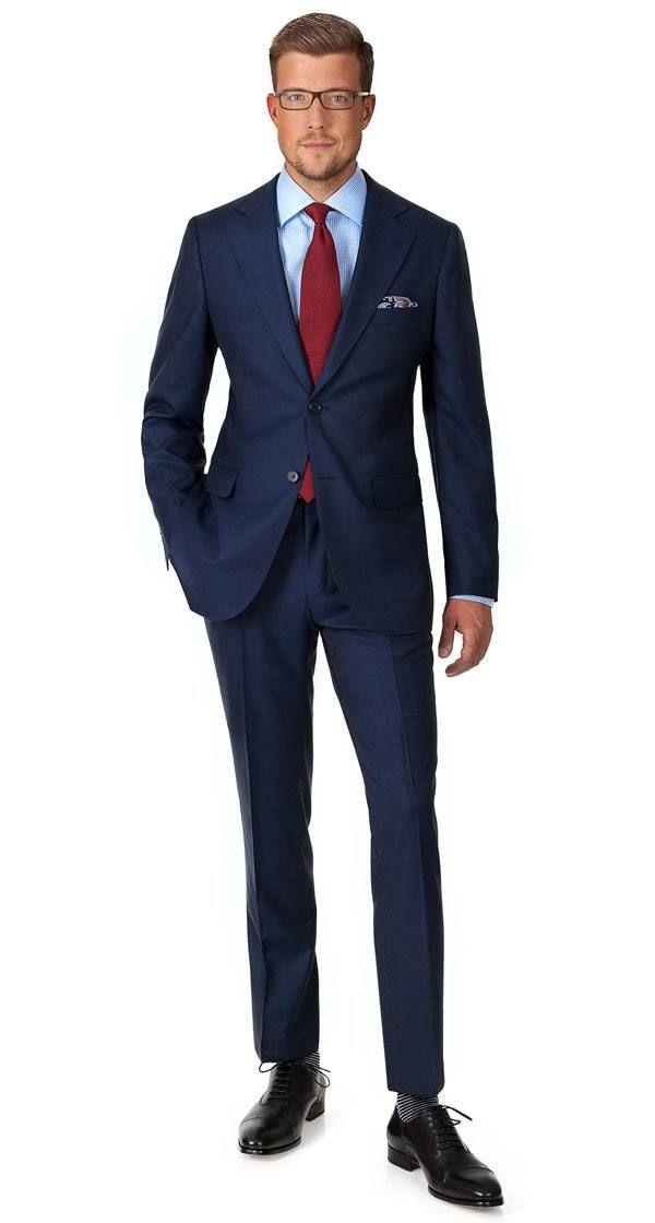 Vendetta Premium Navy Plaid Suit Suits In 2019 Mens