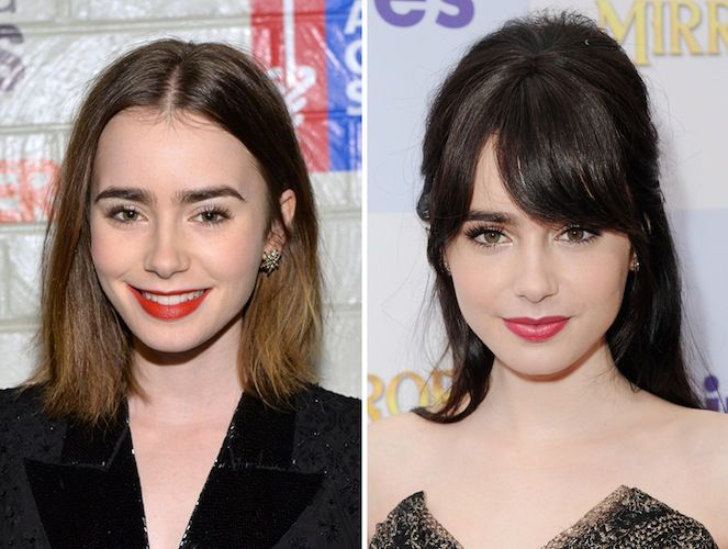 15 Shocking Pics Of Stars Before Amp After Bangs Hair And