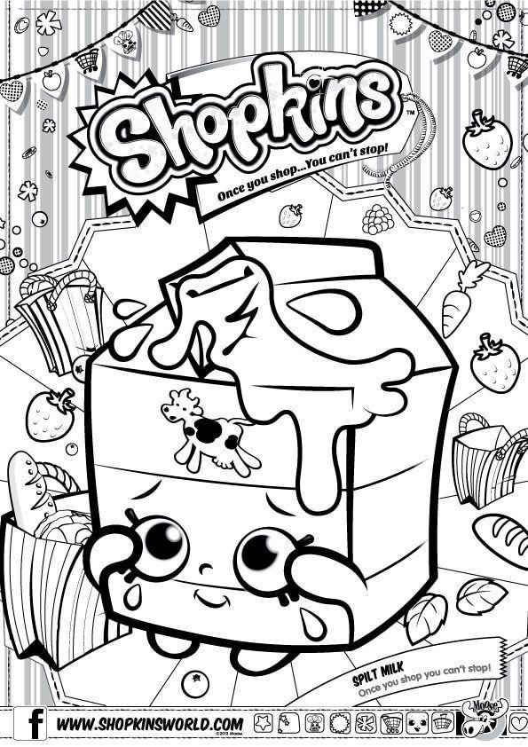 Shopkins Coloring Pages Season 1 Spilt Milk Shopkins Colouring Pages Shopkin Coloring Pages Coloring Pages