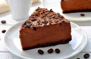 Postre de café y chocolate. Sin harina. Sin gluten.