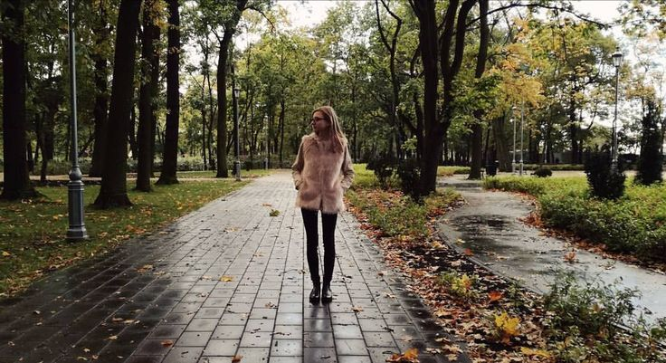 Walks in the park on a rainy fall day