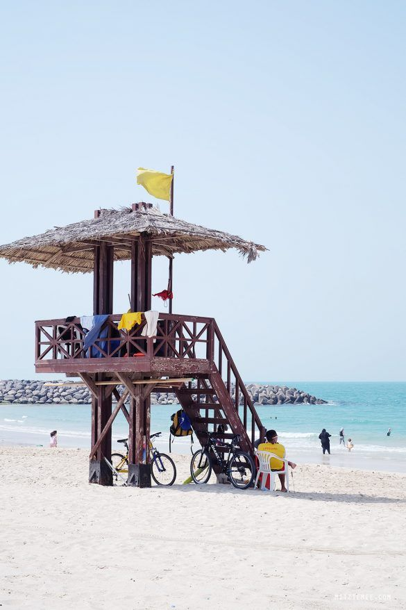 Dubai - En dag på stranden - Al Mamzar Beach Park - Dubai Guide - Rejseblog - Dansk | Mitzie Mee