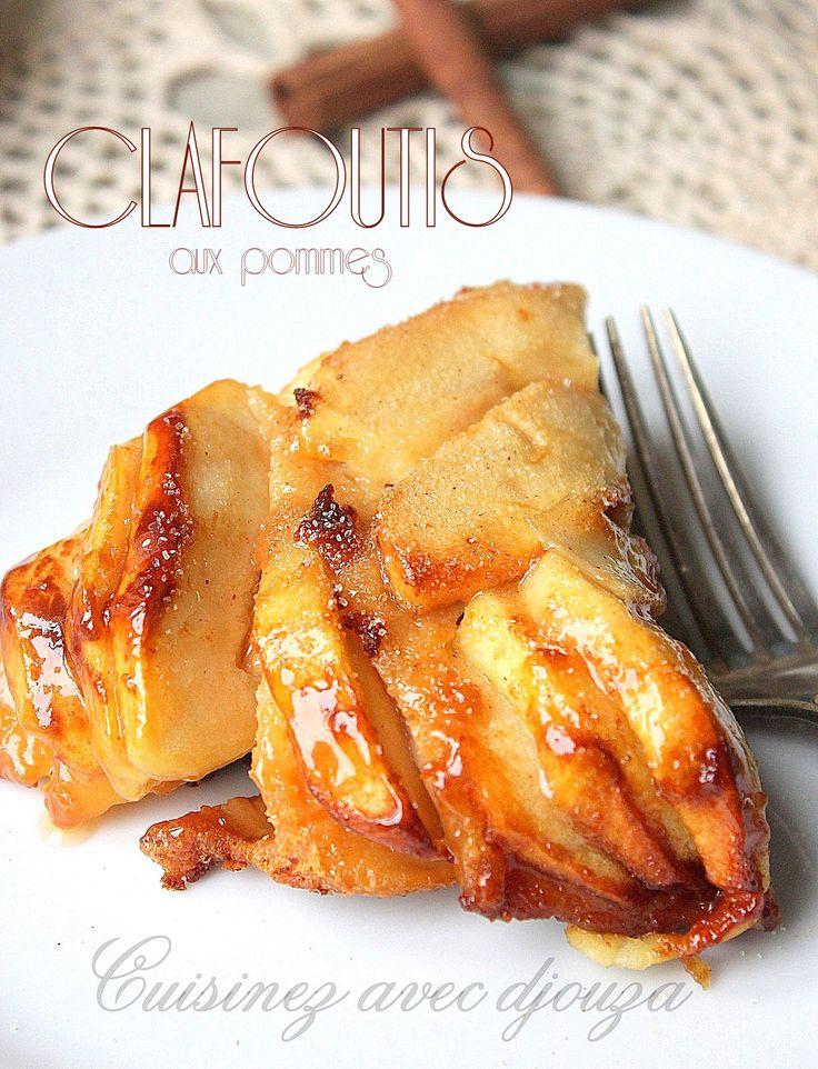 Clafoutis aux pommes gateau caramel
