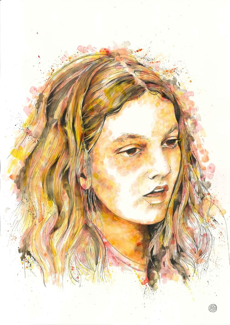 Despoina / custom portrait (29,7 x 42, ink on paper)