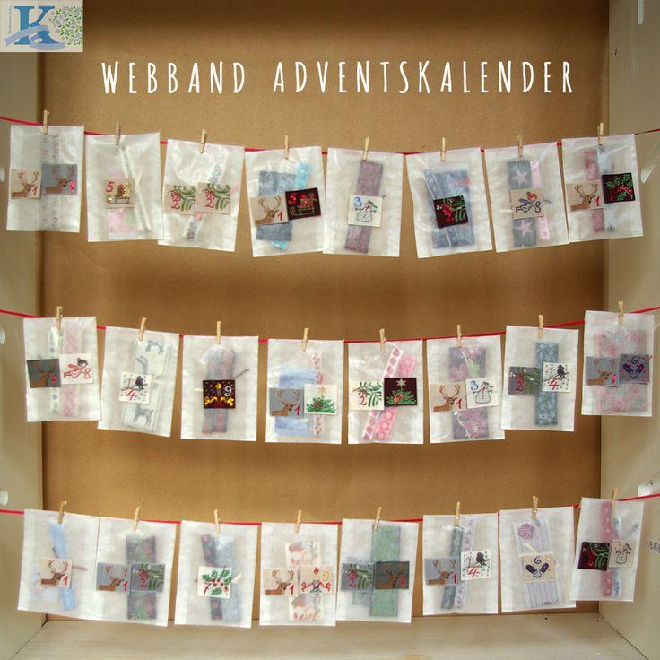 kafka webband adventskalender 24 t tchen gef llt mit webb ndern und webbetiketten zum. Black Bedroom Furniture Sets. Home Design Ideas