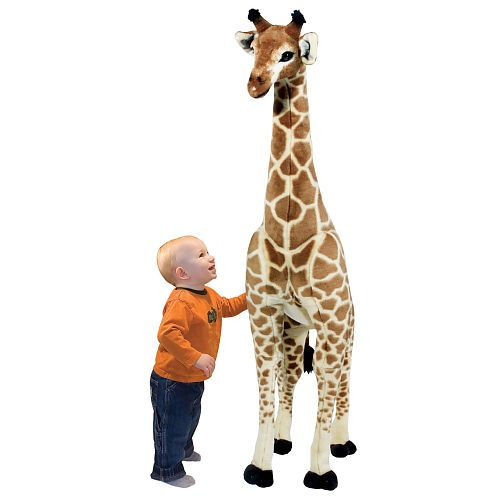 Four feet tall this gorgeous Giraffe makes a big statement wherever it stands! With soft realistic-looking colorful plush on the outside and a sturdy wire frame on the inside this gentle giant is sure to draw attention with its substantial size warm coloring and cute expression. An incredible value!