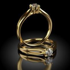 Inel de logodna cu diamant Ikram din aur galben
