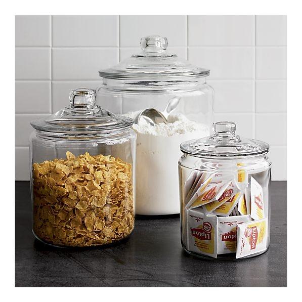 Glass jar home staging ideas pinterest jar glass for Glass jar kitchen ideas