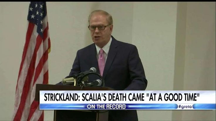 "Ohio Senate candidate Ted Strickland (D) has apologized after he was caught on tape saying that Supreme Court Justice Antonin Scalia's death ""happened at a good time."""