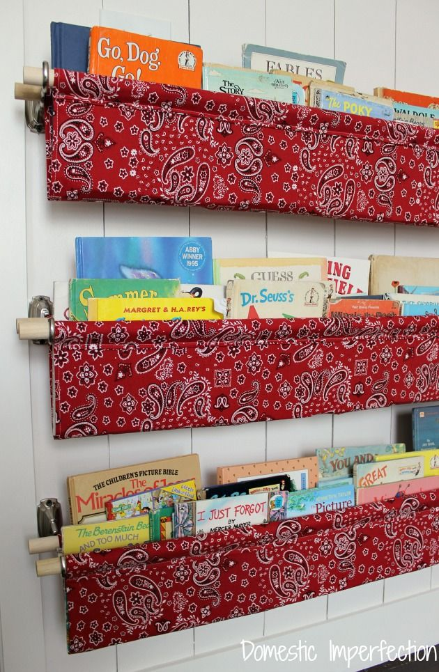 If my kids were still young, I'd be breaking out the sewing machine and stitching up these book slings designed by Ashley (with her easy instructions) at domesticimperfection.com | thisoldhouse.com