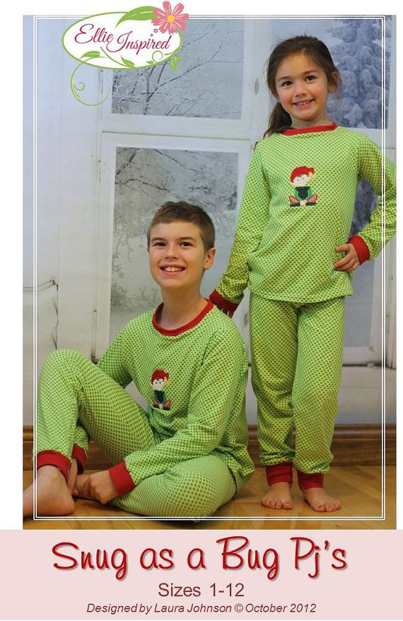 Hey, I found this really awesome Etsy listing at https://www.etsy.com/listing/129826747/knit-pajama-pattern-snug-as-a-bug