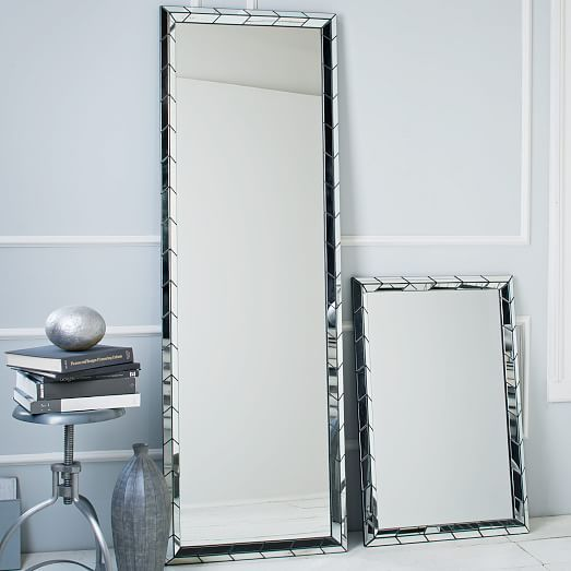 Chevron Tile Wall Mirror | West Elm