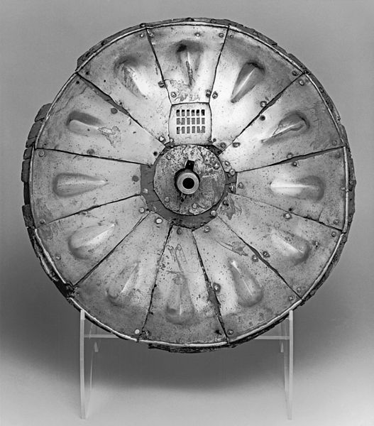 One of Henry Viii's shield and gun combinations, now in the Walters Art Museum