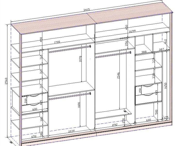 Встроенный шкаф купе своими руками поэтапно: чертежи, схемы,.