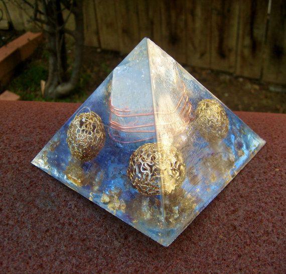 Quartz Celebration Orgone Energy Pyramid Large by TwoChez on Etsy, $65.00