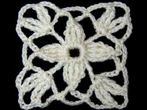 Square de Crochê nº 01 por Carine Strieder - YouTube