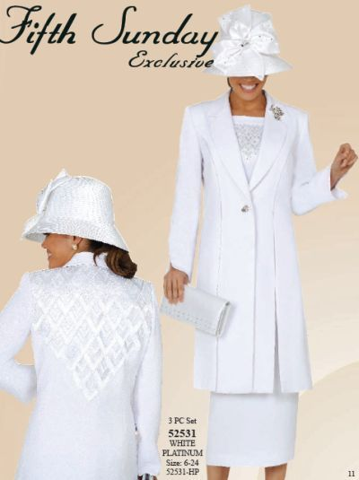 Fifth Sunday By Ben Marc Womens White Church Suit 52531 In