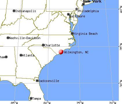 Wilmington, North Carolina map