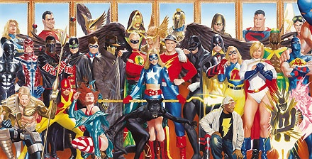 The Justice Society - Generations - Alex Ross - World-Wide-Art.com - $675.00 #AlexRoss #Batman #Superman