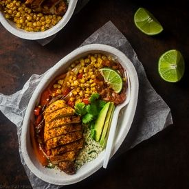 Chipotle Burrito Bowl with Chicken + Healthy Bowl Recipes {Paleo Option + Super Simple} via @FoodFaithFit