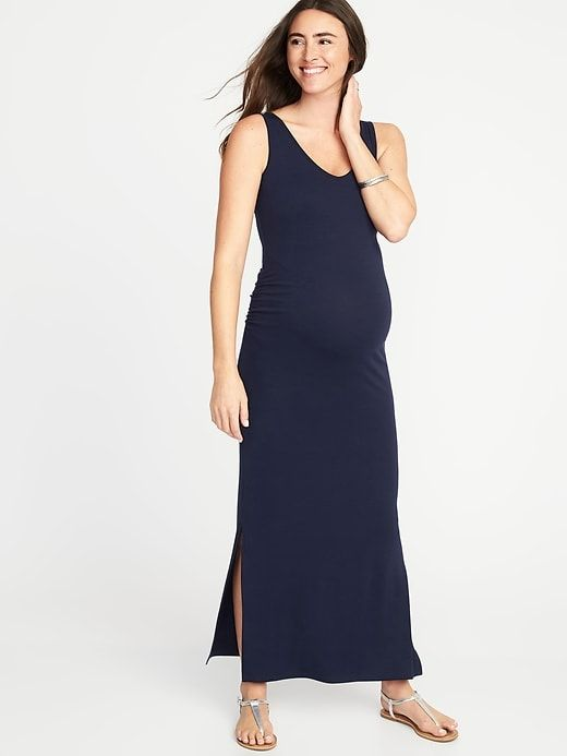 f0e82745e61 Maternity Sleeveless V-Neck Maxi Dress. Maternity Sleeveless V-Neck Maxi  Dress