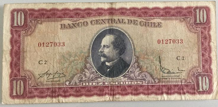 Chile, 10 Escudos, 1964. Free Shipping.