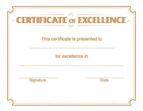 - Free Certificate Template by Hloom.com