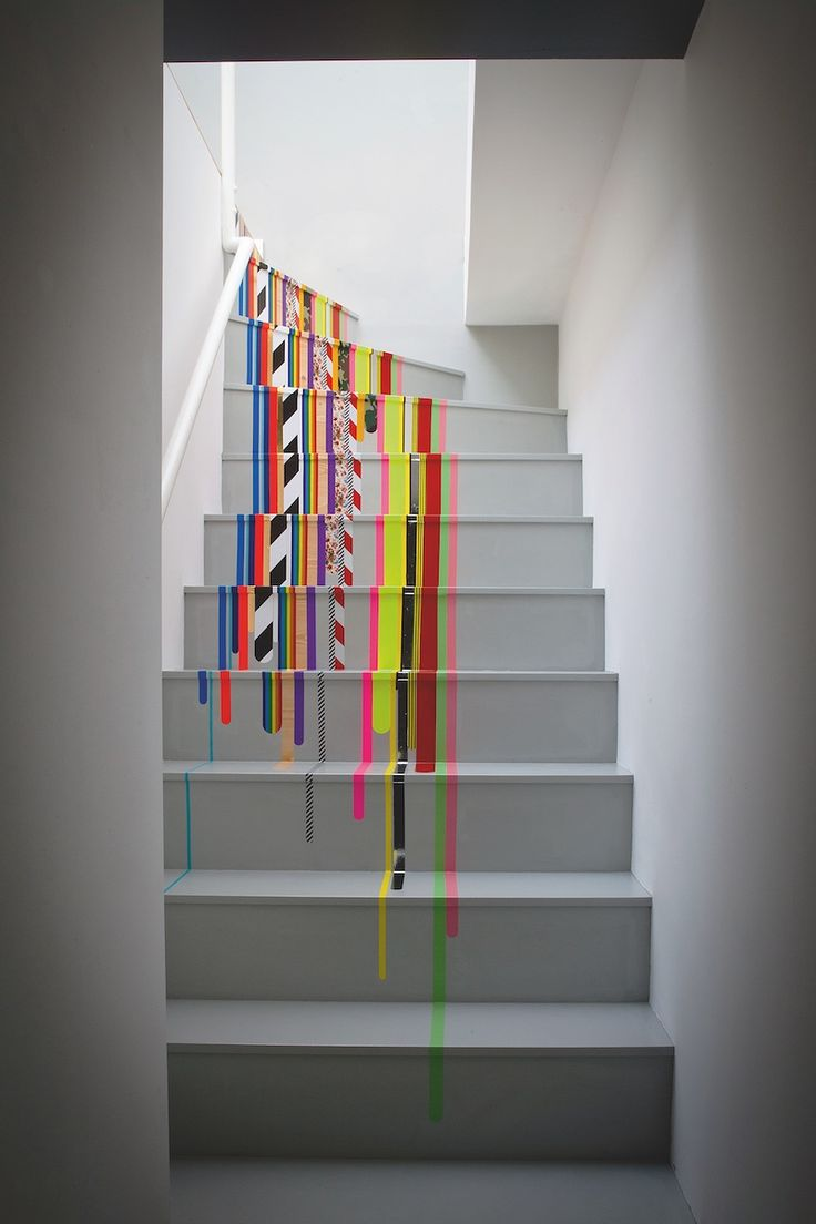Use Washi Tape to Decorate Stairs - Craftfoxes