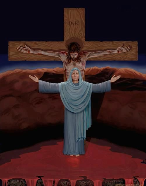 Fifth Sorrowful Mystery - The Crucifixion of Jesus Behold my Son
