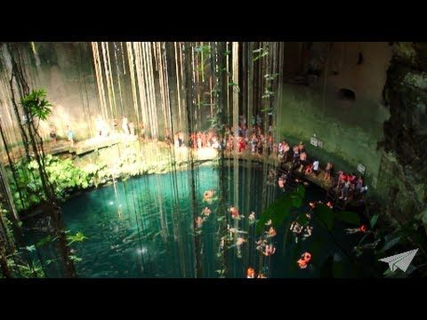 Chapter 6: A nice HD video of two teens swimming in Cenote Ik Kil