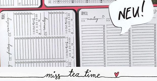 Mein Persönlicher Kalender: Kalendarium Miss Teatime