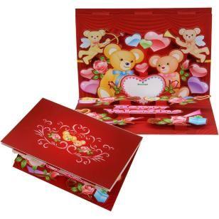 Pop-up Card (Teddy Bear),Craft Cards,Card,Valentine's Day,multi-purpose,heart,red,season,teddy bear,present