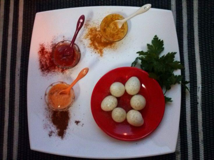 Valentines day recipie | ovos de codorniz spicy | spicy little eggs
