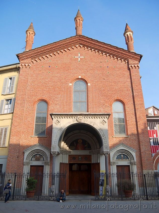 Facade of the Basilica of San Calimero in Milan (Italy). Visit the website for other pictures and info!