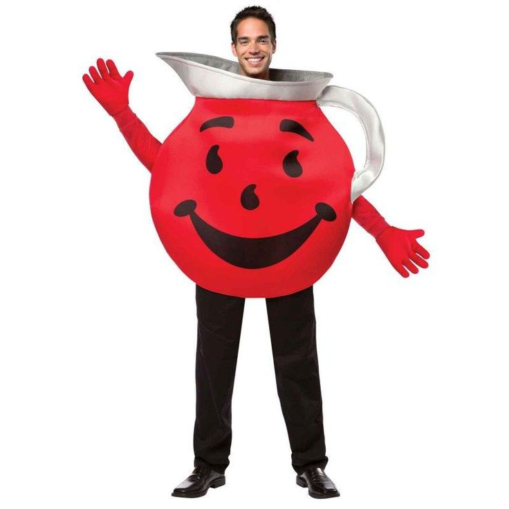 You want to be the coolest guy at the party? The Kool Aid Man Halloween Costume will make a splash. Bring another snack friend and go as a couple.