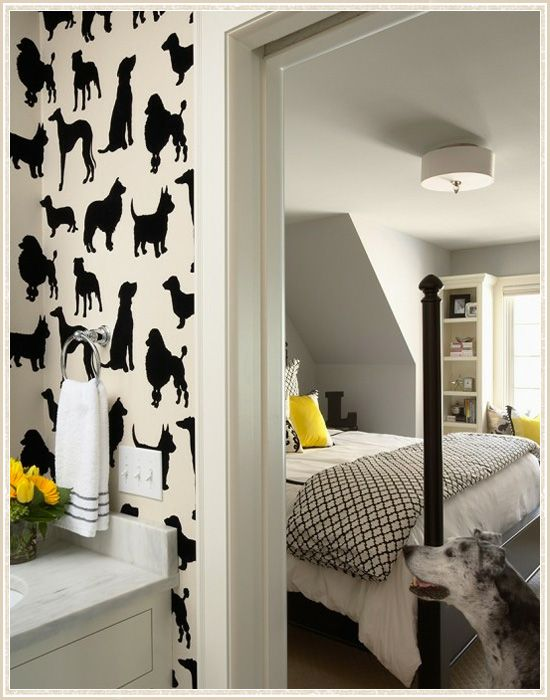 Designers We Love! Martha O'Hara Interiors -  fun wallpaper!