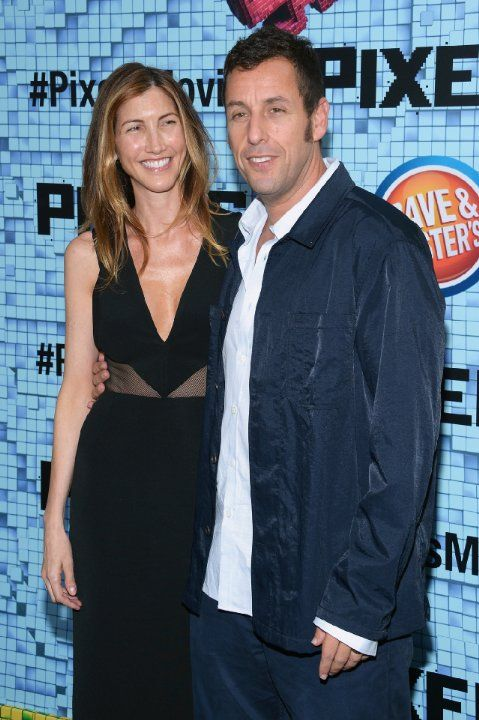 Adam Sandler and Jackie Sandler at event of Pixels (2015)